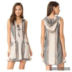 Free People All Right Now Mini Dress Boho Hooded